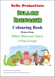 Colouring Book Dillon Dinosaur Starts A Pop Group