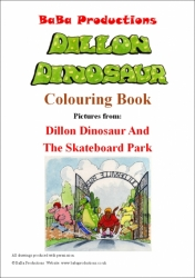 Colouring Book Dillon Dinosaur And The Skateboard Park