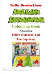 Colouring Book Dillon Dinosaur And The Pop Stars