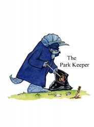 Laminated Character - The Park Keeper